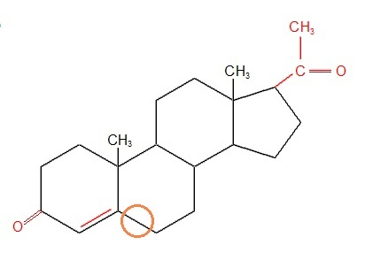 Progesteron-Unterschied zu Cholesterin